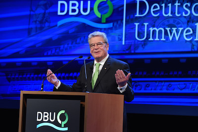 President of Germany Joachim Gauck will awards the German Environment Prize 2014 in the Kongress Palais Kassel