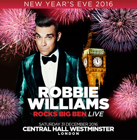 Robbie Williams rocks out at Central Hall Westminster
